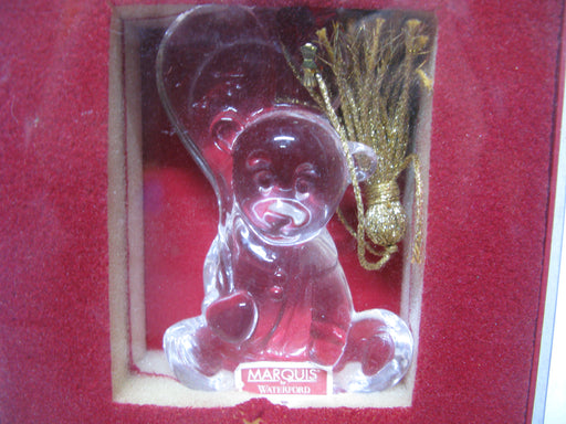 Marquis by Waterford 2008 Glass Ornament Teddy Bear