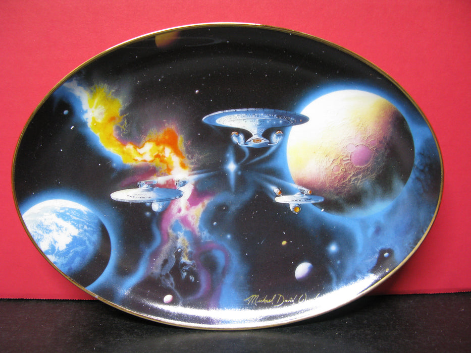 'To Boldly Go' Star Trek Collectors Plate