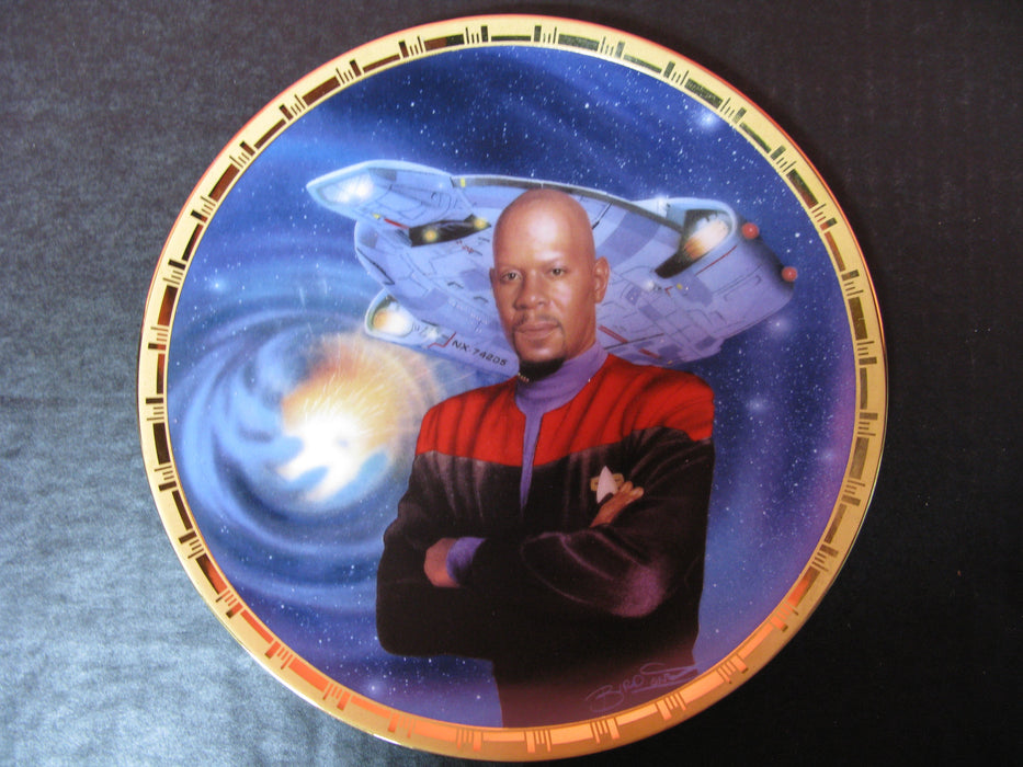 'Captain Sisko and the U.S.S. Defiant' Star Trek Collectors Plate