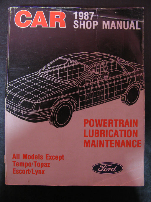 3 Car Shop Manuals from 1987