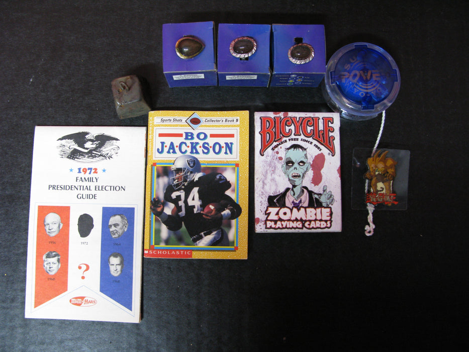 Hodge-Podge: Super Power Yo-Yo, 3 mood rings, Zombie Playing Cards, etc.