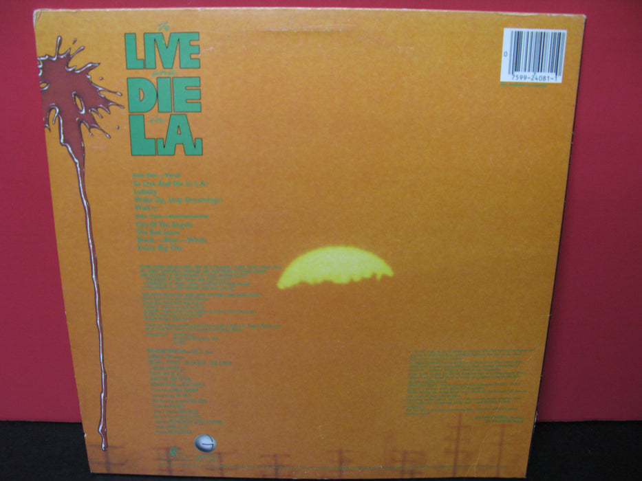 Wang Chung Record - To Live And Die In L.a. Vinyl
