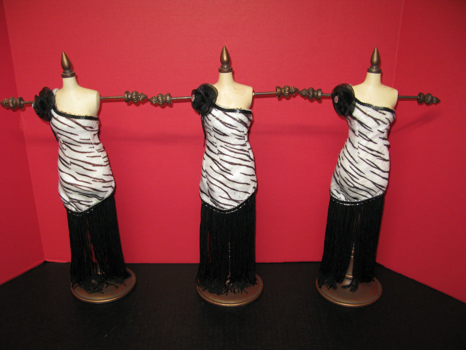 3 Mannequin Jewelry Holders