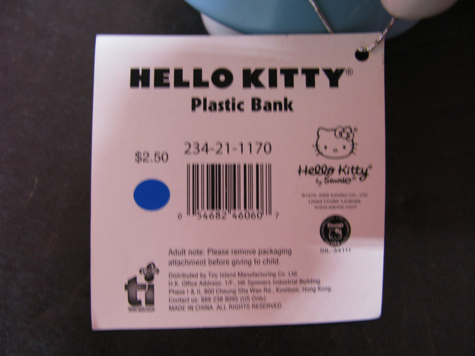 Hello Kitty Ceramic Bank & Smaller Plastic Bank