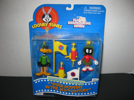 Looney Tunes- Daffy Duck and Marvin The Martian Action Figures