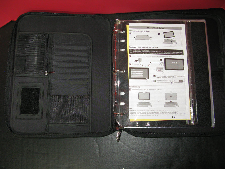 Black Binder Case Dayrunner