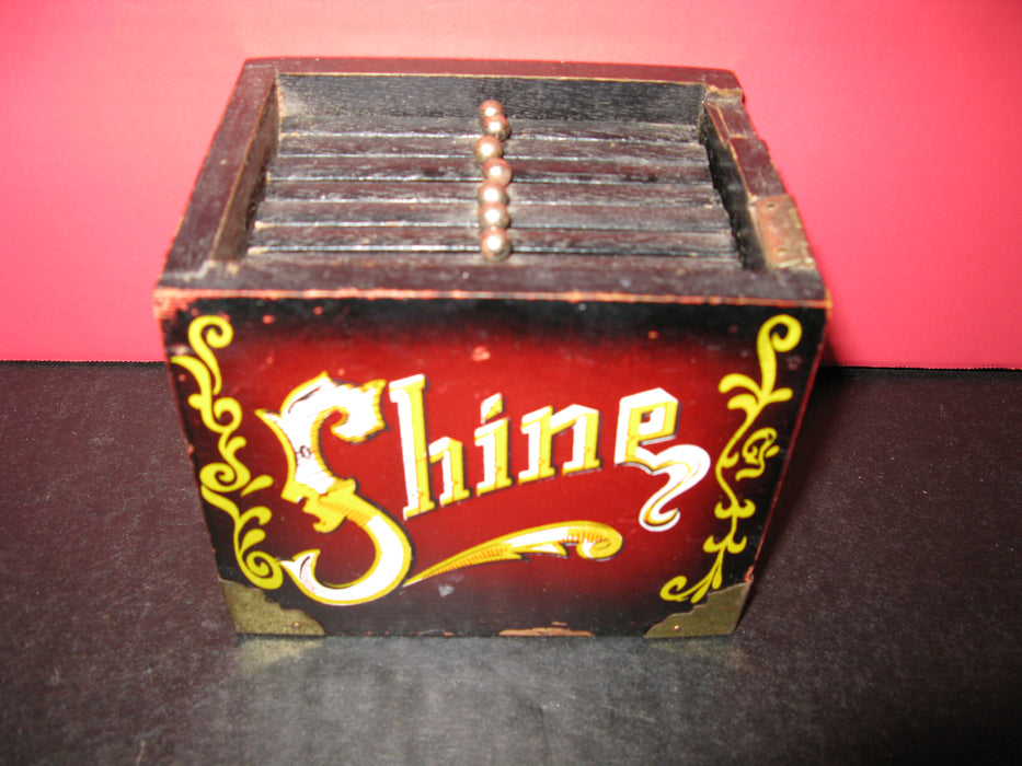 Vintage 5 Cent Shoe Shine Drink Coaster Set