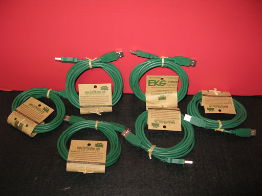 6 pairs of EKG 10' USB 2.0 A-A Extention Kable by ZipKord