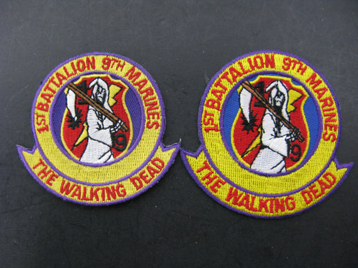 Two 1st Battalion 9th Marines-The Walking Dead Patch