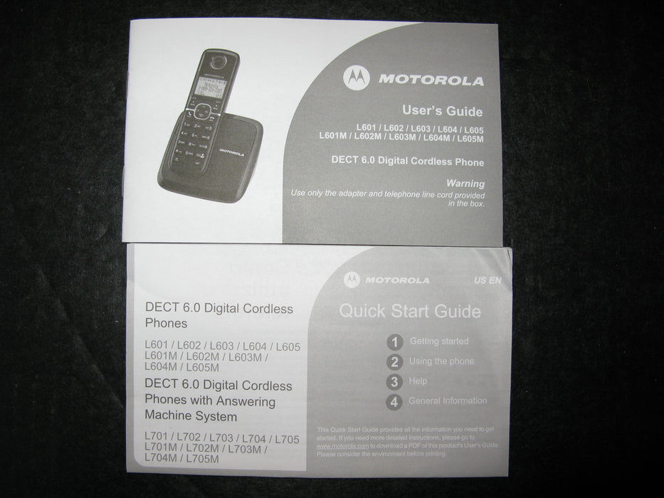Set of 3 Wireless Motorola Landline Phones
