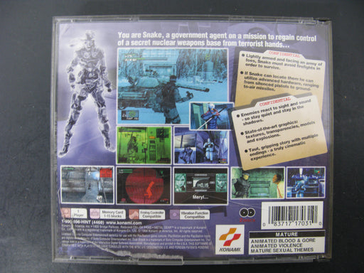 PlayStation-Tactical Espionage Action Metal Gear Solid