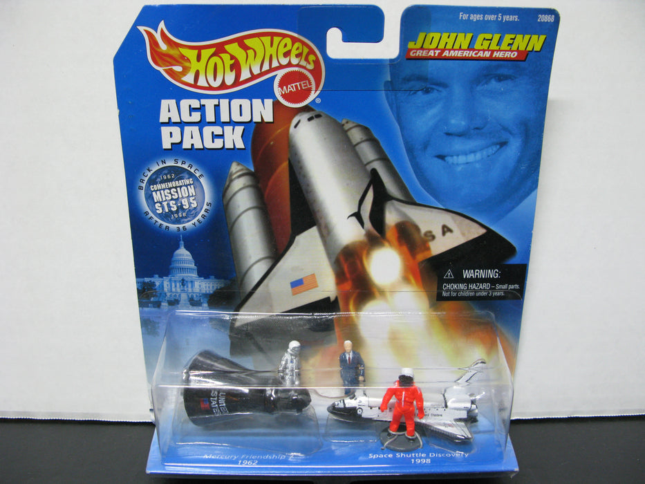 Hot Wheels Action Pack John Glenn Great American Hero