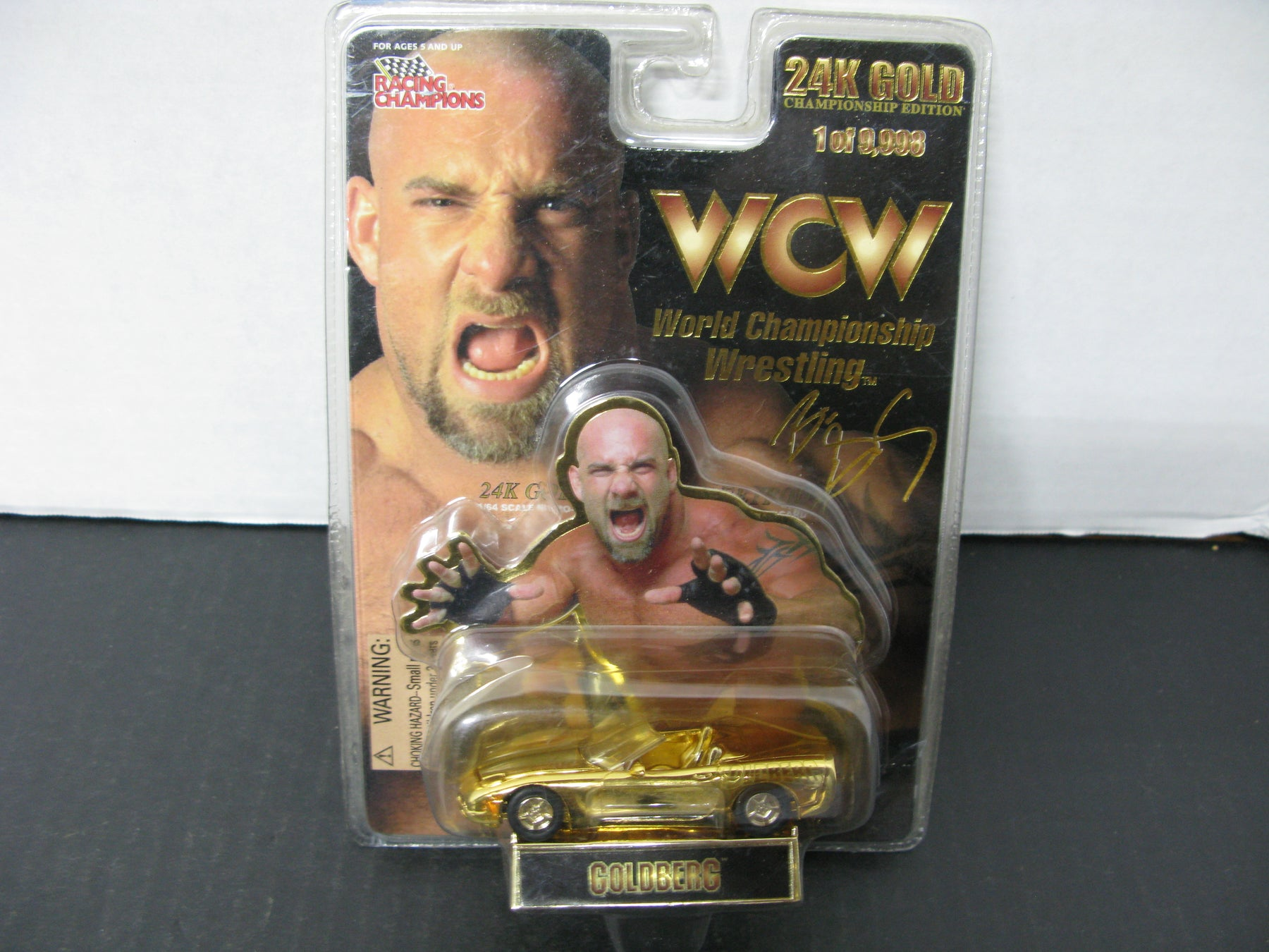 24K Gold World Championship Wrestling Goldberg Car