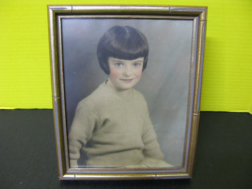 Framed European Photo of a Little Girl