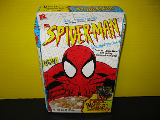 Empty Marvel Comics Spider-Man Sweetened Rice Cereal