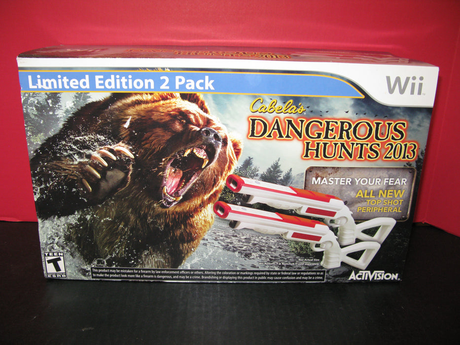 Cabela's Dangerous Hunts 2013 Wii Limited Edition 2 Pack