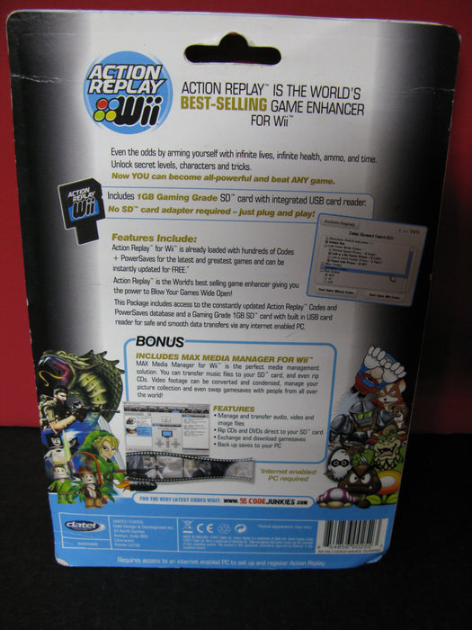Datel For Nintendo Wii Action Replay
