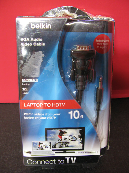 Belkin Laptop to TV 10ft Video Cable VGA Audio