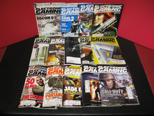 14 Electronic Gaming Monthly Magazines Lot #1