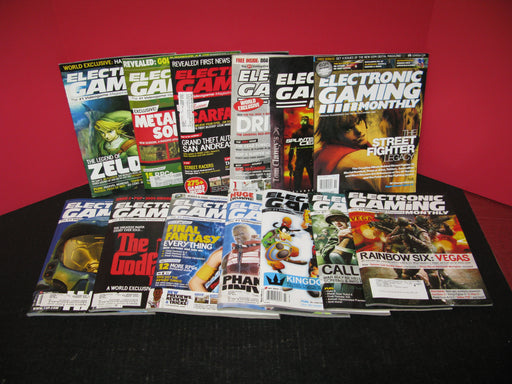 13 Electronic Gaming Monthly Magazines Lot #2