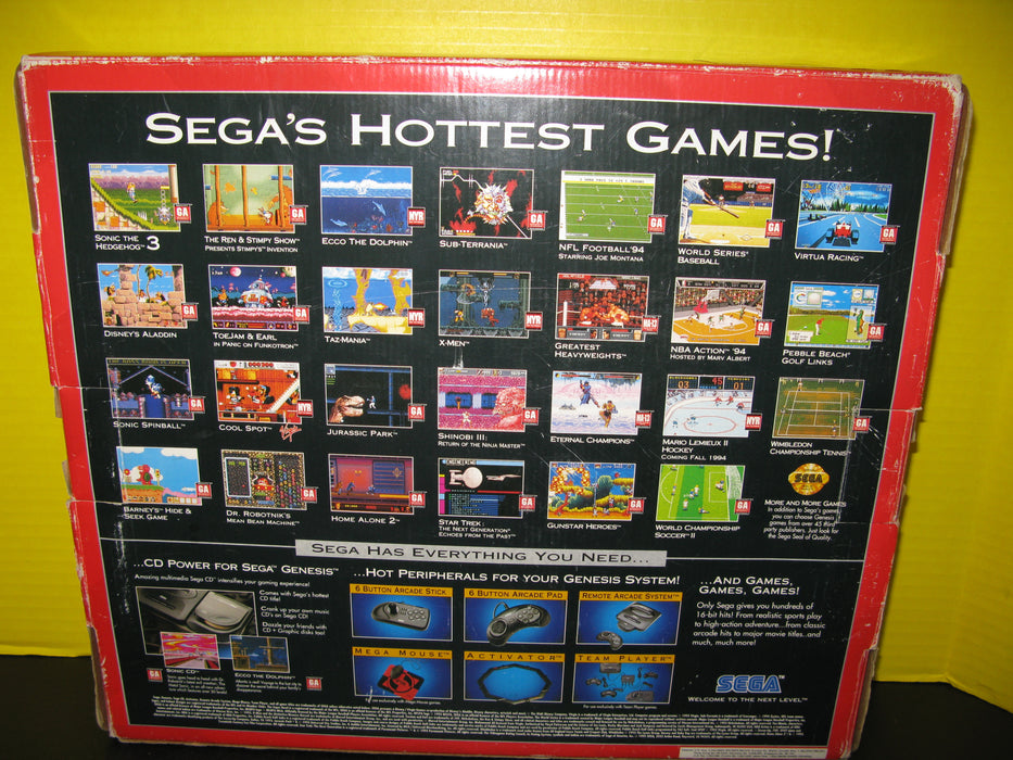 Genesis 16-Bit Video Entertainment System Sega Sports