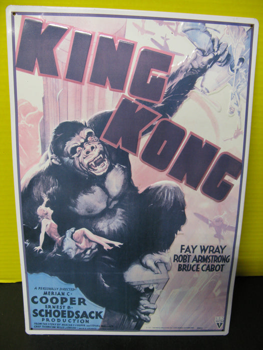 King Kong Metal Display Sign
