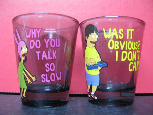 Bob's Burgers Glass Cups and Shot Glasses