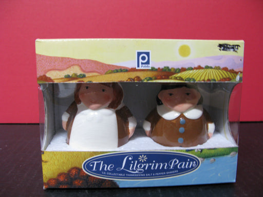 The Lilgrim Pair-'Lil Collectible Thanksgiving Salt and Pepper Shakers