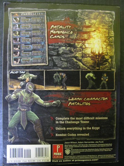 Mortal Combat Prima Official Game Guide
