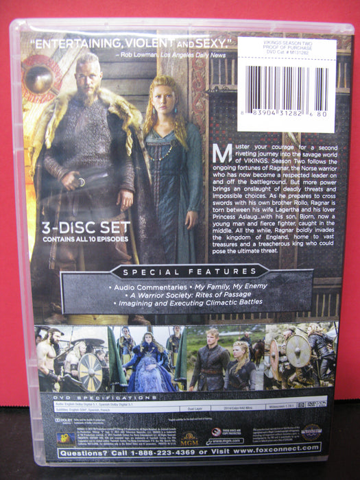 Vikings The Complete Second Season DVD