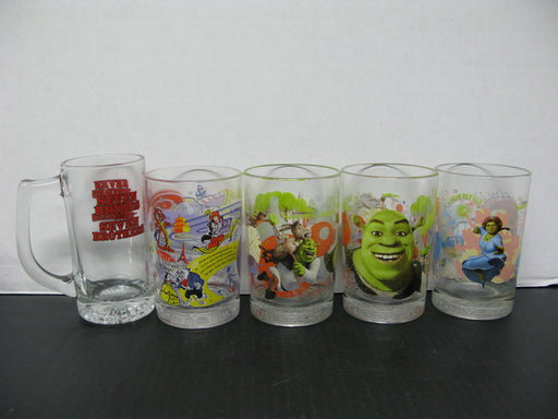 10 Glass Cups Collectible Mcdonald's Walt Disney World 100 Years Of Magic