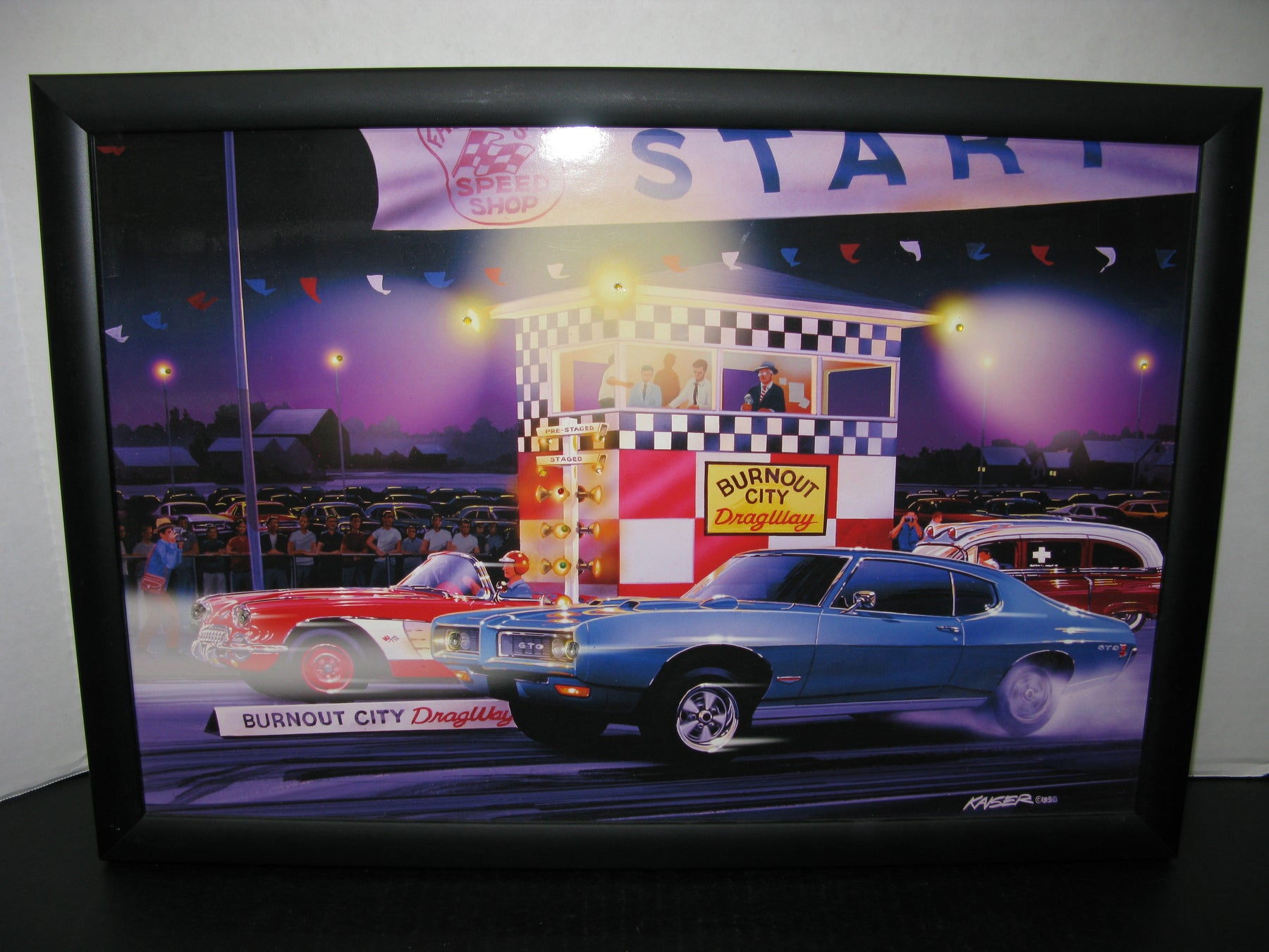 Framed Picture of Burnout City DragWay