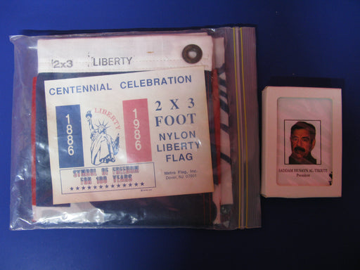 1886 Nylon Liberty Flag and Iraqi Most Wanted Deck Of Playing Cards