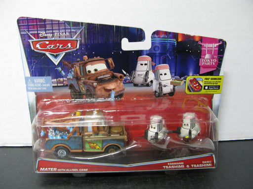 Disney Pixar Cars Mater With Allinol Cans Edamame & Daisu Tsashimi Toyko Party