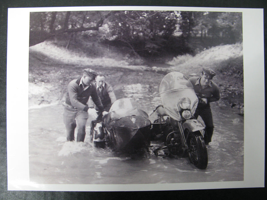 4 Vintage Motorcycle Photographs