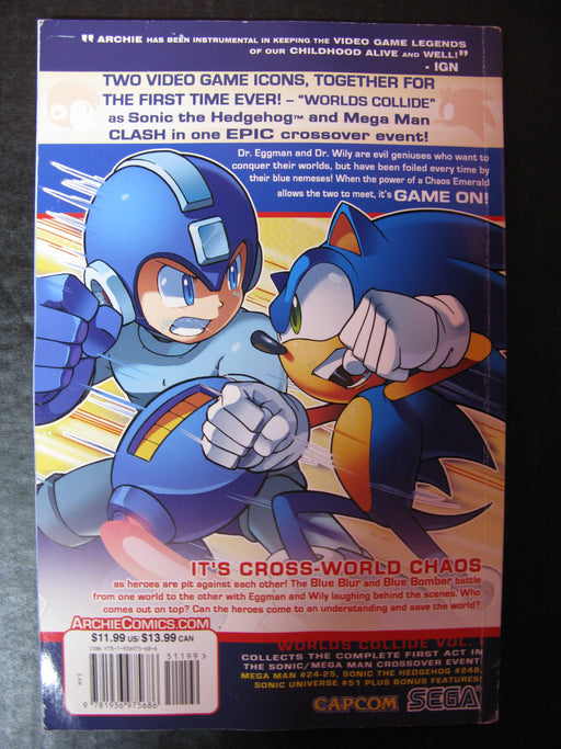 Sonic The Hedgehog/Mega Man-Worlds Collide Volume 1 Kindred Spirits