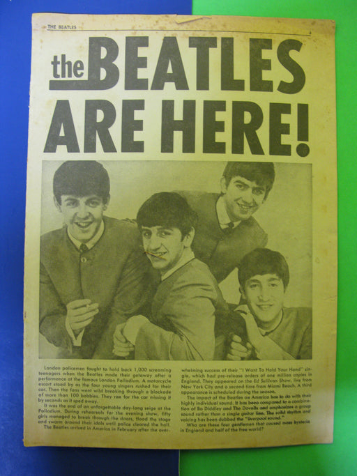 The Beatles are Here!  Vol.1 No.1 Spring 1964