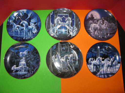 6 Unicorn Decorative Plates