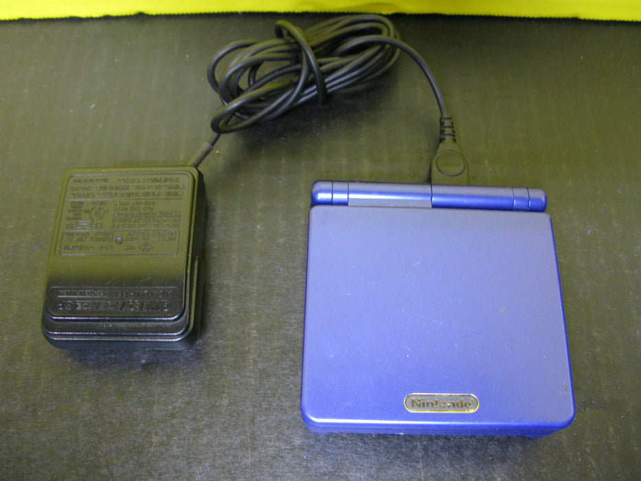 Nintendo Game Boy Advanced SP (Dark Blue) with Charger