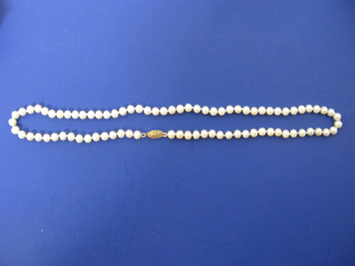 14k Clasp Pearl Necklace