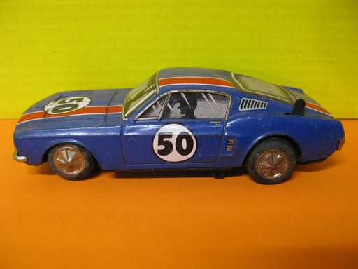 1960's Ford Mustang Bump'n Go Tin Toy Car
