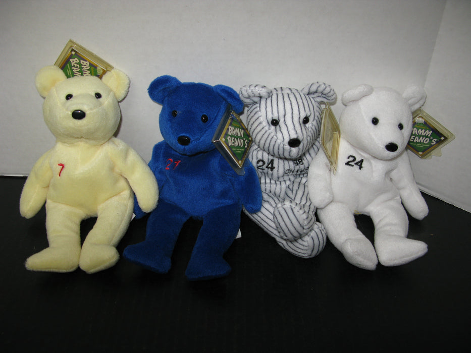 24 Baseball Bamm Beanos Plush Bear Collection