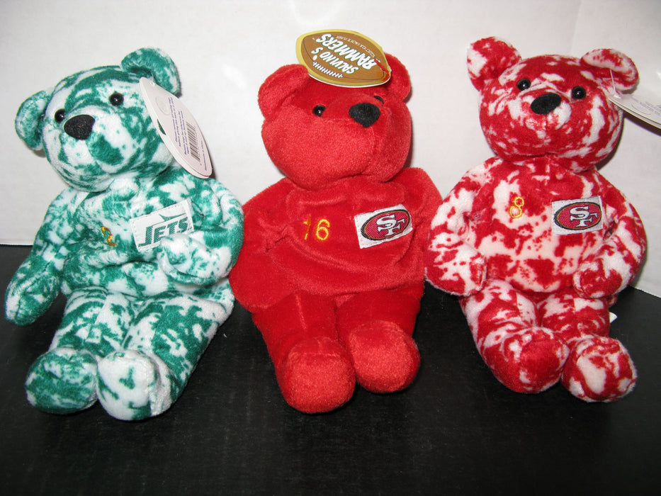 18 Football Salvino's Bammers Plush Bear Collection