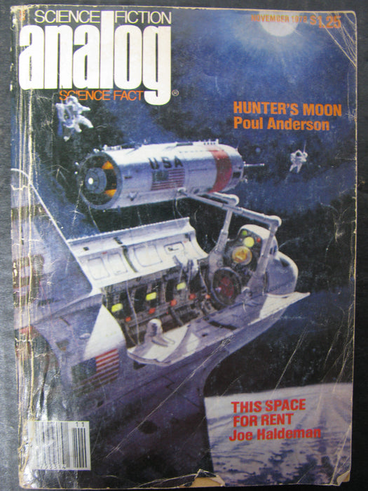 Science Fiction Analog Science Fact - Hunter's Moon Poul Anderson This Space For Rent by Joe Haldeman