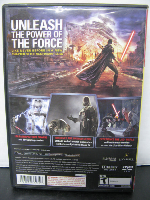 PlayStation 2 Greatest Hits Star Wars The Force Unleashed