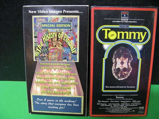 Tommy The Movie and The History of Pinball VHS