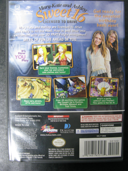 Nintendo GameCube Mary-Kate and Ashley Sweet 16 Licensed to Drive