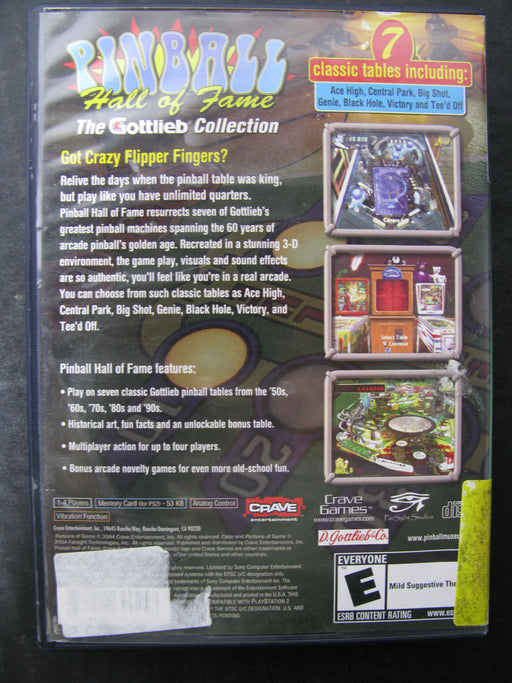 PlayStation 2 Pinball Hall of Fame The Gottlieb Collection