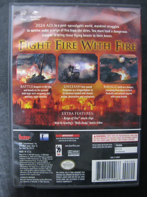 Nintendo GameCube Reign of Fire