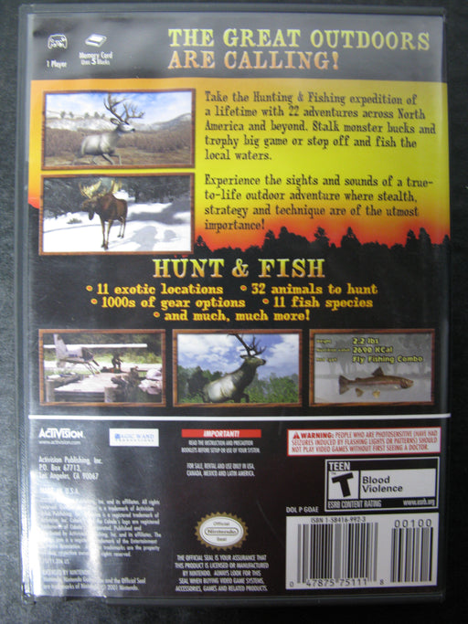 Nintendo GameCube Cabela's Outdoor Adventures